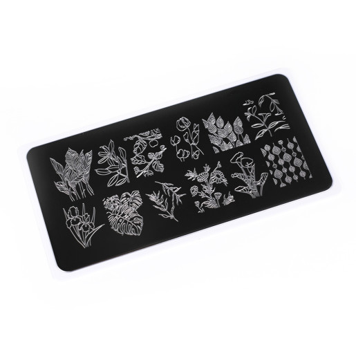 Nail Stamping Plate.Echo:Flora#2