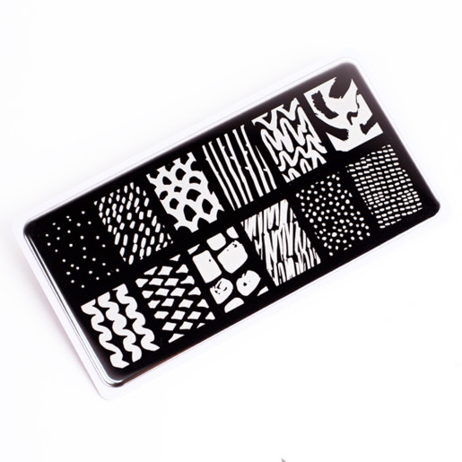Nail Stamping Plate.Echo:Line Art #2